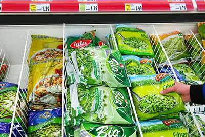 Etiquetado de alimentos congelados